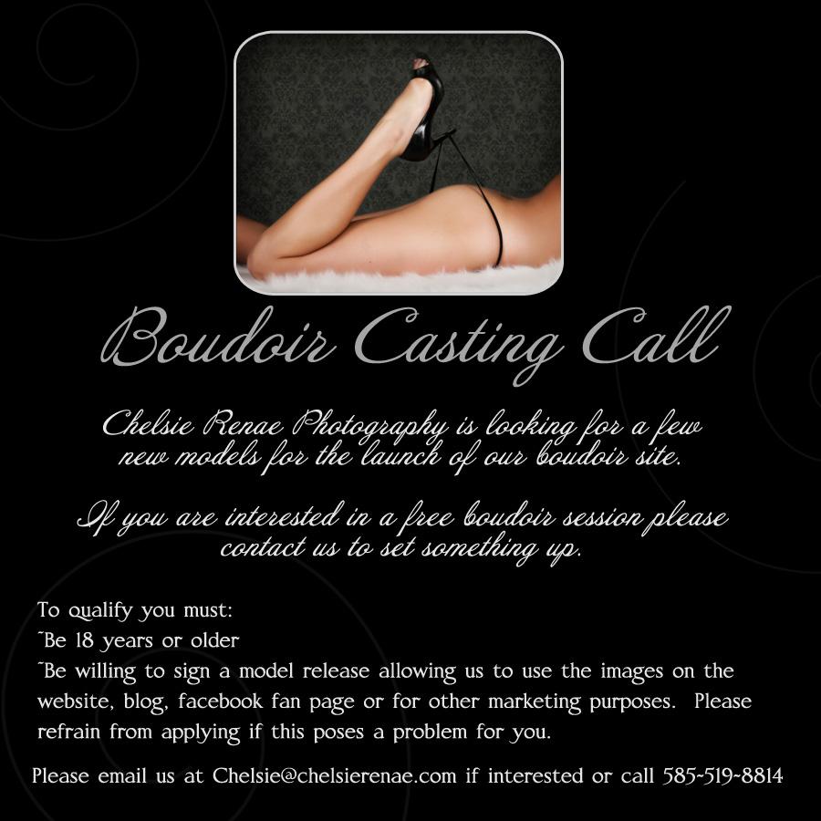boudoir casting call