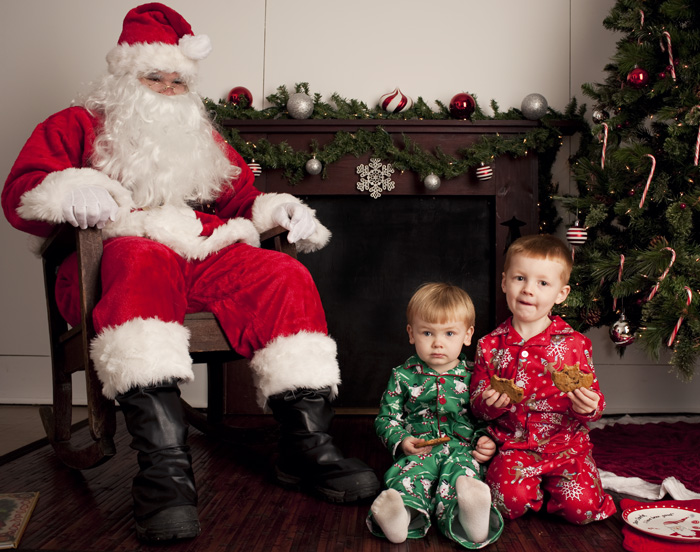 These two were all about Santa! So brave :)