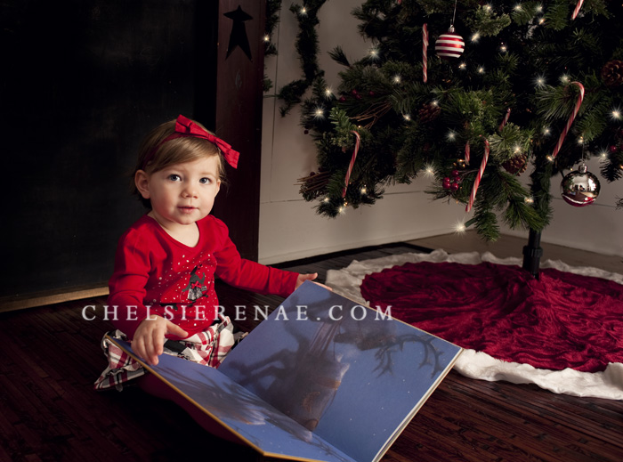 She wanted Santa to stay away so she could read her book :)