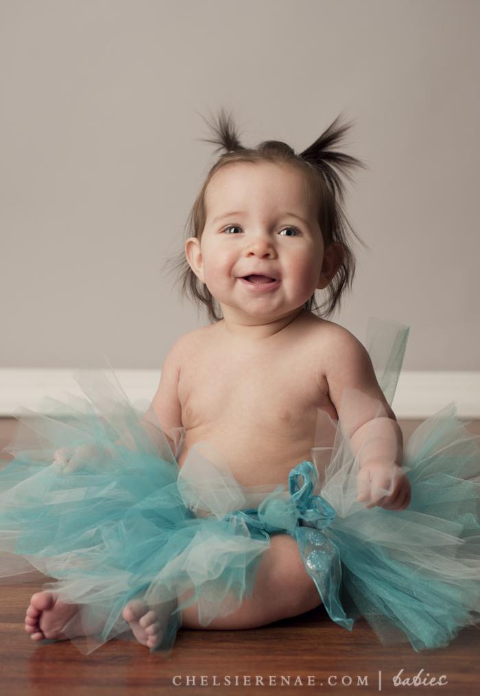 The cutest little baby ballerina