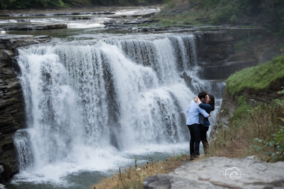 She said YES at suprise proposal lower falls of Letchworth State Park
