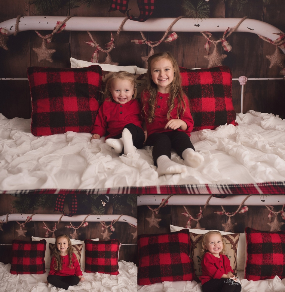 Holiday Mini Sessions Bed Set Up